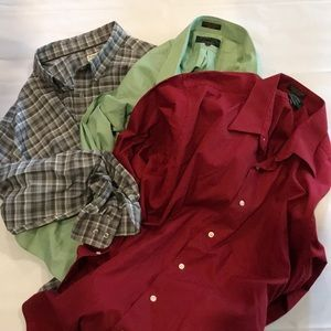 Other - 2XLT Lot of Three Long Sleeve Button Front Shirts